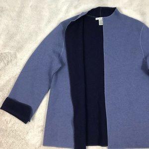 Jillian Jones Blue Wool Blend Cardigan